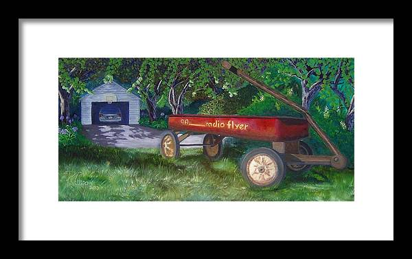 Radio Framed Print featuring the painting My First Car by Ryan Williams