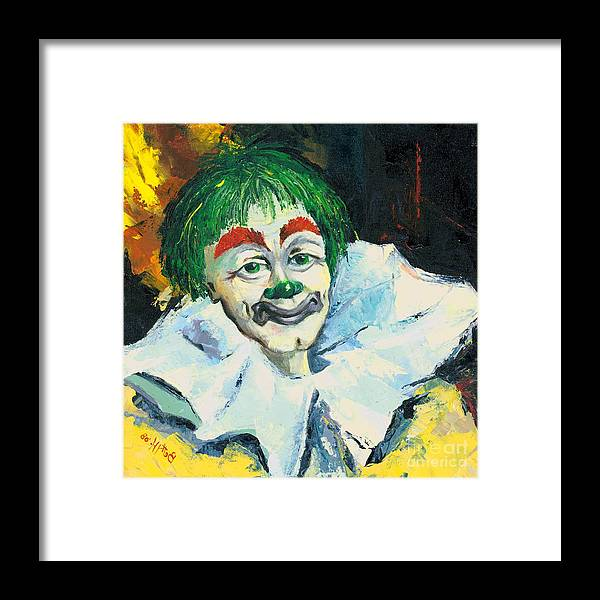 Canvas Prints Framed Print featuring the painting My Friend by Elisabeta Hermann