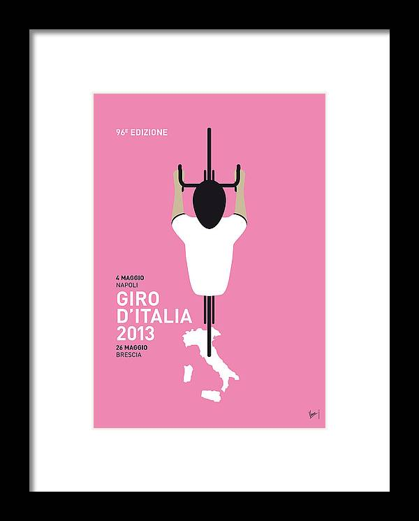 2013 Framed Print featuring the digital art My Giro D'italia Minimal Poster by Chungkong Art