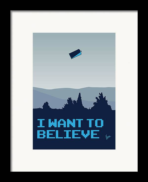 Classic Framed Print featuring the digital art My I Want To Believe Minimal Poster- Tardis by Chungkong Art