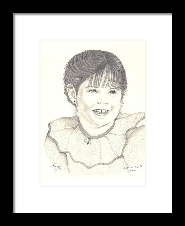 Little Girl Framed Print featuring the drawing My Little Girl by Patricia Hiltz
