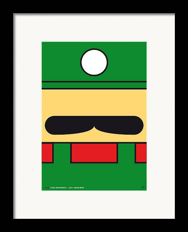 Mario Framed Print featuring the digital art My Mariobros Fig 02 Minimal Poster by Chungkong Art