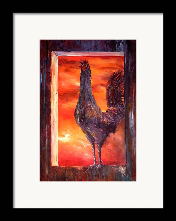 Nightmare Framed Print featuring the painting My Nightmare by Jean Walker