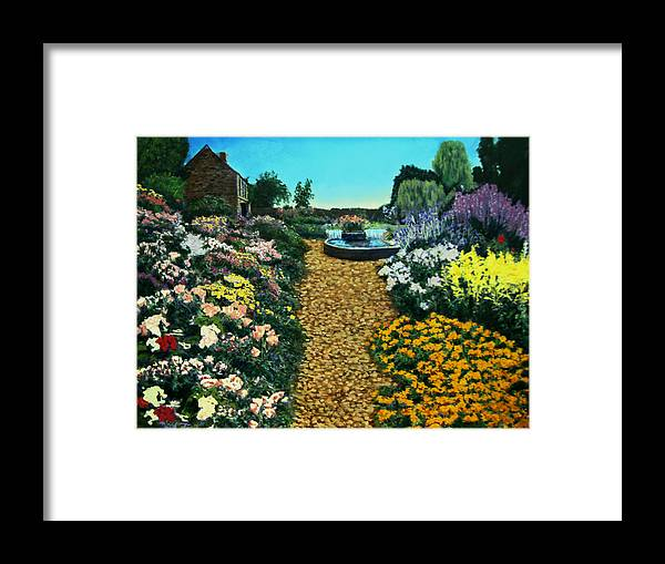 Landscape Paintings Framed Print featuring the painting My Secret Garden by David Zimmerman