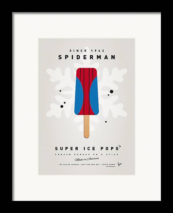 Superheroes Framed Print featuring the digital art My Superhero Ice Pop - Spiderman by Chungkong Art