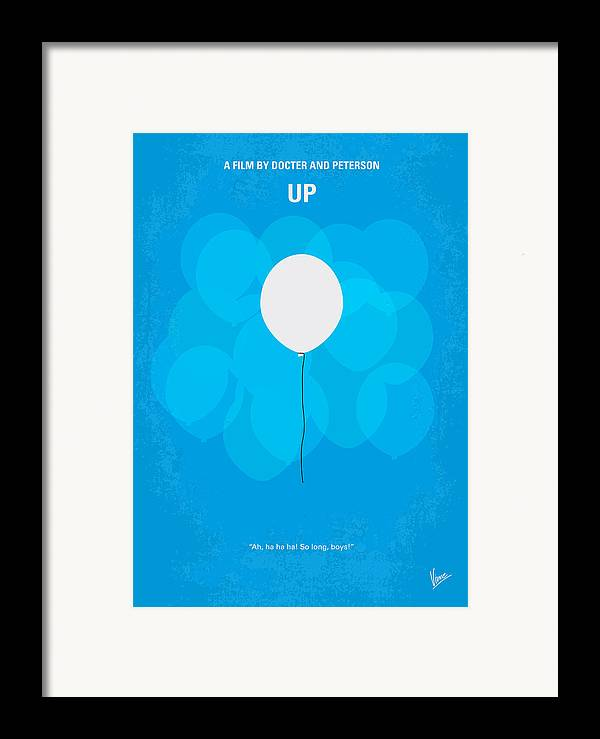 Up Framed Print featuring the digital art My Up Minimal Movie Poster by Chungkong Art