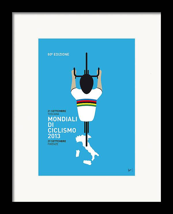 2013 Framed Print featuring the digital art My World Championships Minimal Poster by Chungkong Art