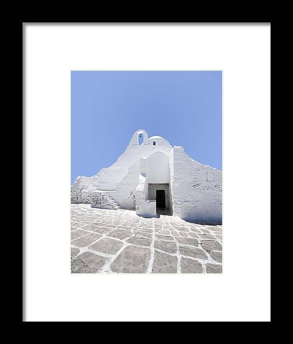 Mykonos Framed Print featuring the photograph Mykonian Church by Hakon Soreide