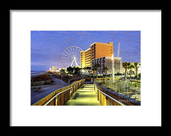 Myrtle Beach Framed Print featuring the photograph Myrtle Beach by Denis Tangney Jr