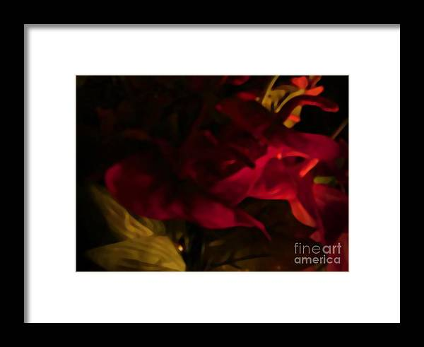 Still Flower Framed Print featuring the photograph Mysterious  by Gayle Price Thomas