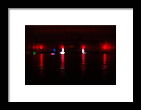 Red Lights Framed Print featuring the photograph Mysterious Lights by Sabasion Bentley-Dyess