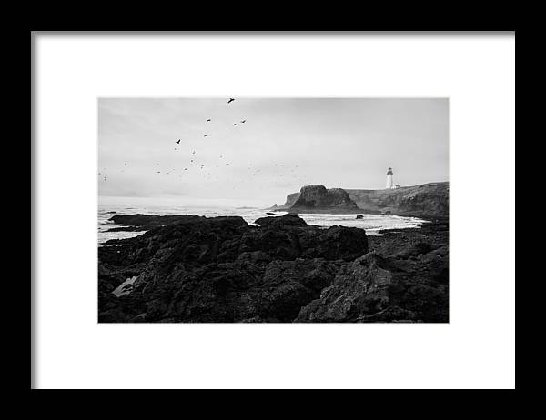 Oregon Framed Print featuring the photograph Mysterious Yaquina Head by Mark Kiver