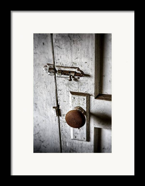 Doorknob Framed Print featuring the photograph Mystery Door by Caitlyn Grasso
