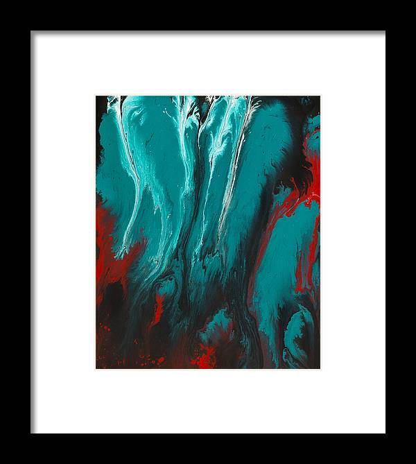Wall Paintings Framed Print featuring the painting Mystery In Sight by Nandita Albright