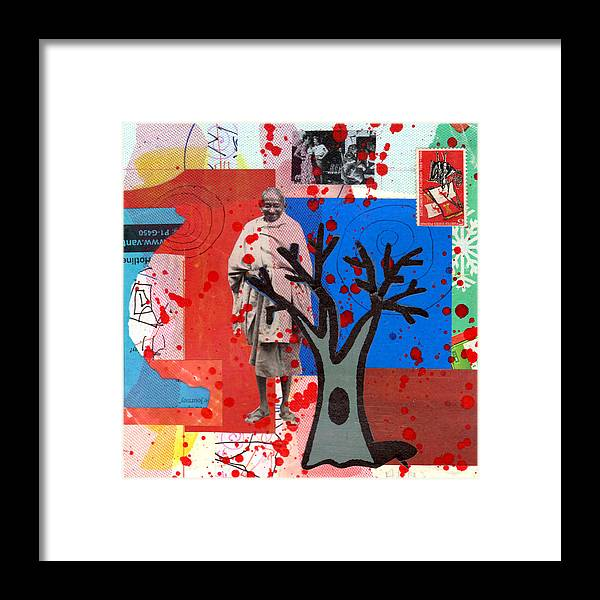 Abstract Framed Print featuring the mixed media Mystery Journey by Richard Allen