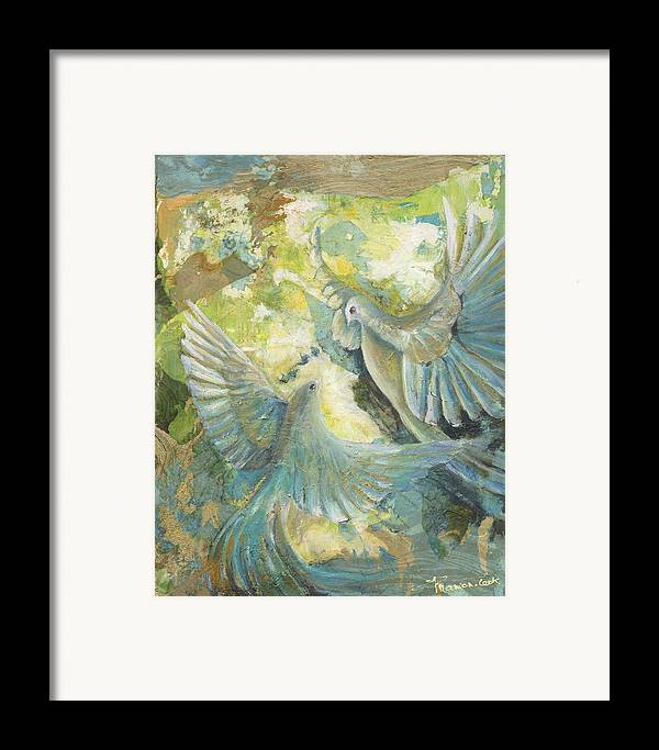 Abstract Framed Print featuring the painting Mystery by Valerie Graniou-Cook
