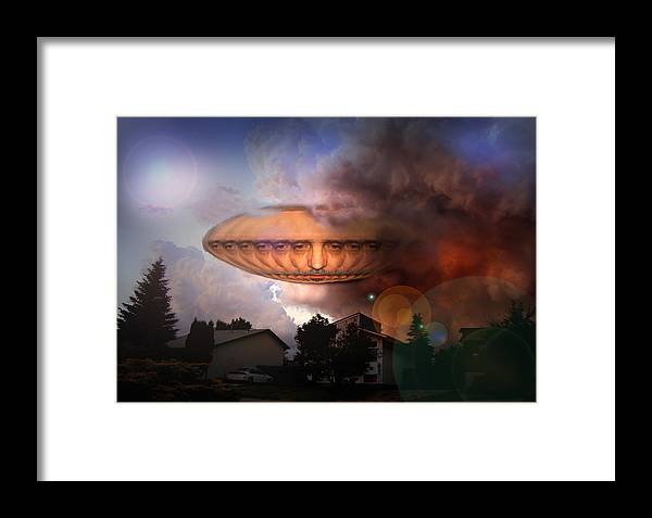 Surrealism Framed Print featuring the digital art Mystic Ufo by Otto Rapp