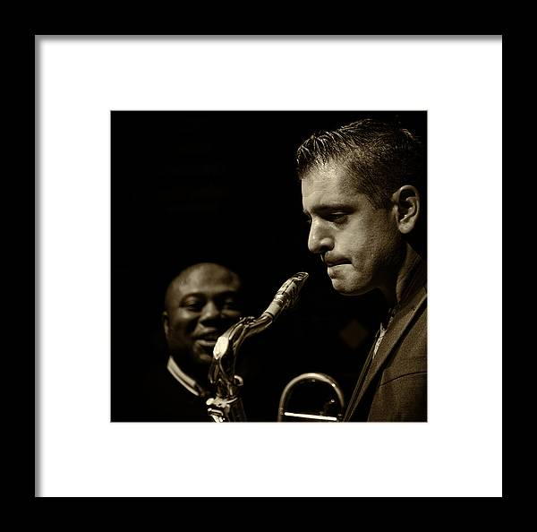 Jazz Framed Print featuring the photograph Nailed It - Take Two by Jim Lynch