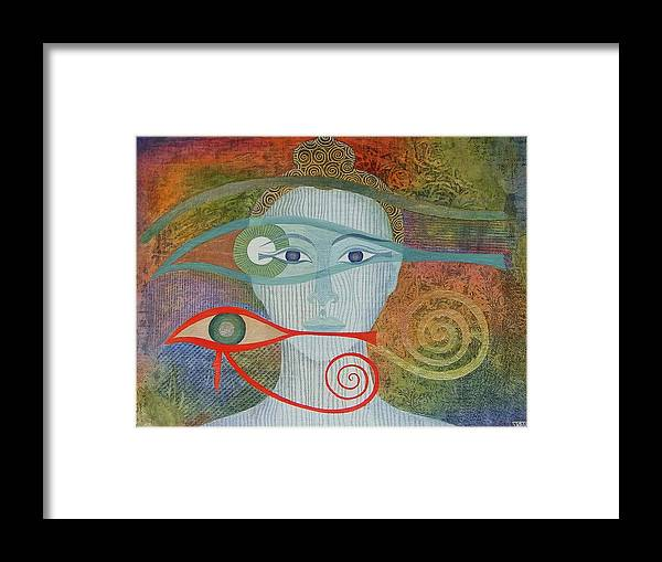 Buddha Framed Print featuring the painting Naked Awareness by Jennifer Baird