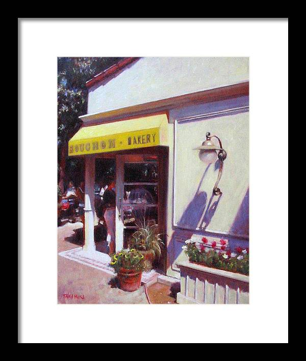 Wine Coutry Framed Print featuring the painting Napa Boushon Bakery by Takayuki Harada