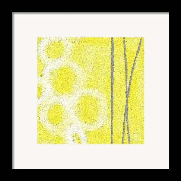 Abstract Art Framed Print featuring the painting Narcissus by Linda Woods