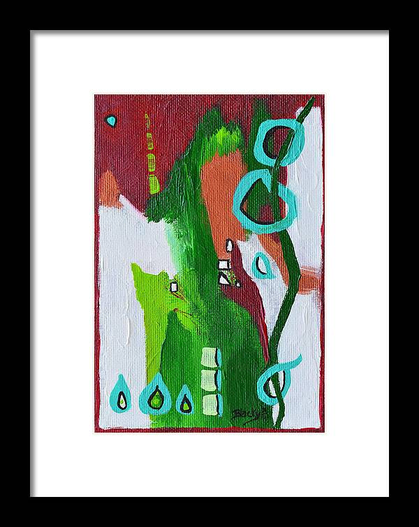 Modern Framed Print featuring the painting Narrow Escape by Donna Blackhall