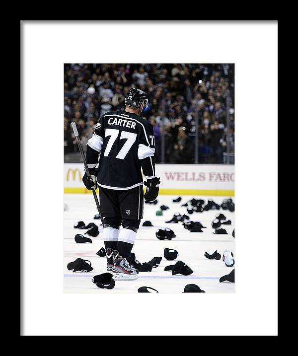 National Hockey League Framed Print featuring the photograph Nashville Predators V Los Angeles Kings by Harry How