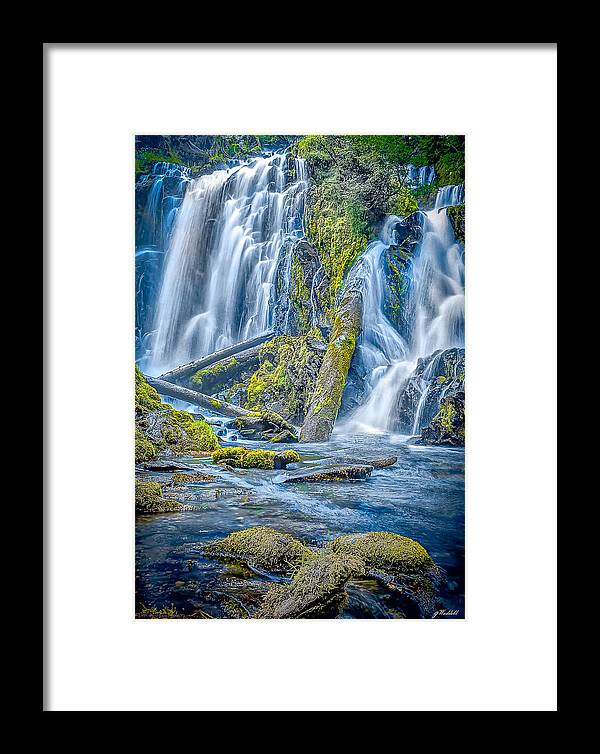 Crater Lake Framed Print featuring the photograph National Creek Falls by Greg Waddell