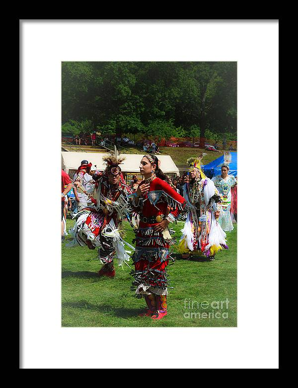 Native American Framed Print featuring the photograph Native American Dancers by Eleanor Abramson