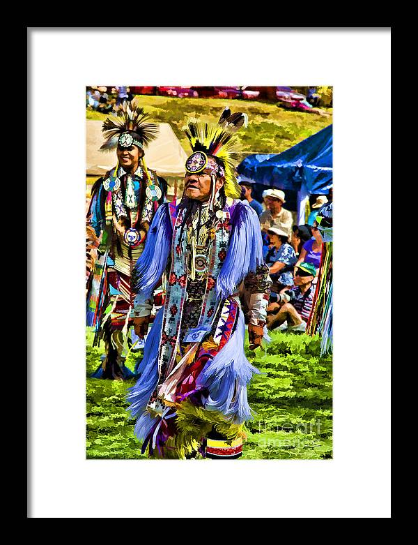 Native American Framed Print featuring the photograph Native American Elder by Eleanor Abramson
