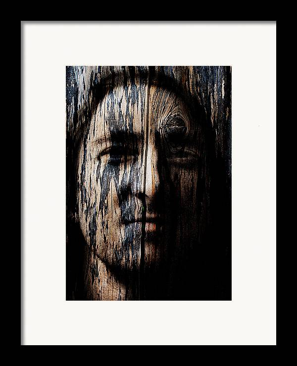 Native Framed Print featuring the painting Native Heritage by Christopher Gaston