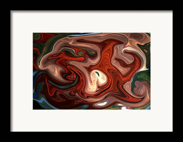 Abstract Framed Print featuring the photograph Natural Flow by Aidan Moran