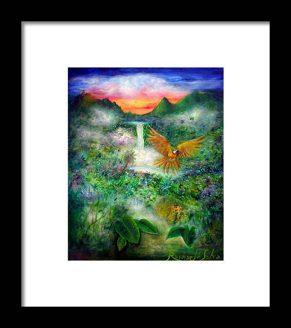 Bird Framed Print featuring the painting Natural Peace by Raphael De Selva