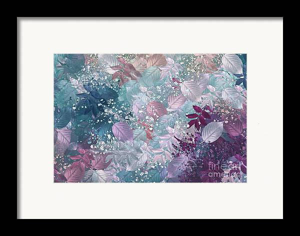 Abstract Digital Art Framed Print featuring the digital art Naturaleaves - S1002b by Variance Collections