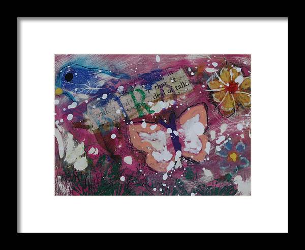 Butterfly Framed Print featuring the mixed media Nature 13 by Dawn Boswell Burke