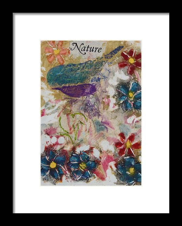 Butterfly Framed Print featuring the mixed media Nature 15 by Dawn Boswell Burke