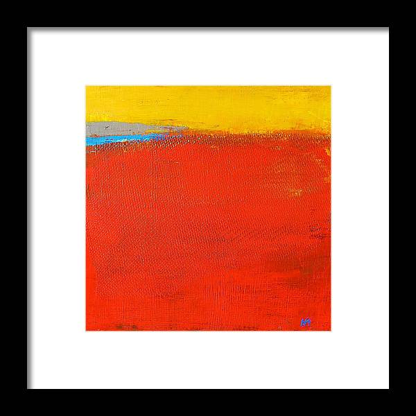 Landscape Framed Print featuring the painting Nature Rouge by Habib Ayat