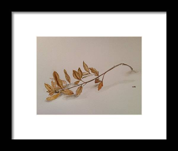 Leaves Framed Print featuring the painting Nature Walk 3 by Kaos Handlon