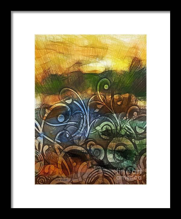 Baar Framed Print featuring the digital art Natures Awakening by Lutz Baar