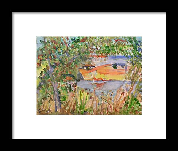 Sea And Land Scape Framed Print featuring the painting Natures Face by Edward Burbidge