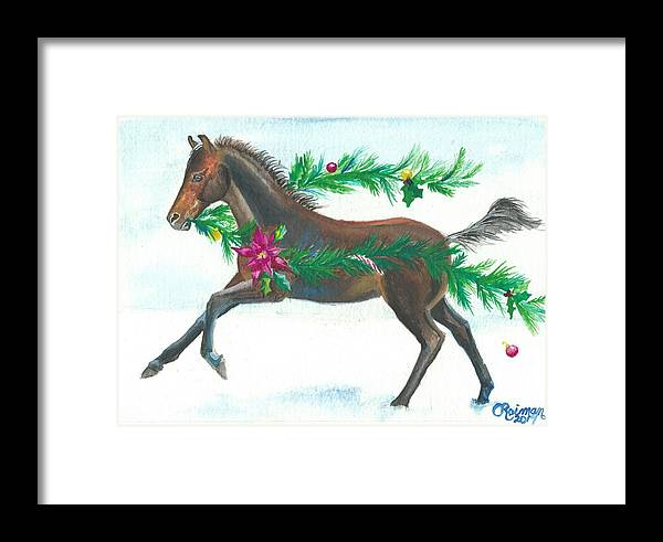 Christmas Framed Print featuring the painting Naughty Or Nice by Kathleen Reiman