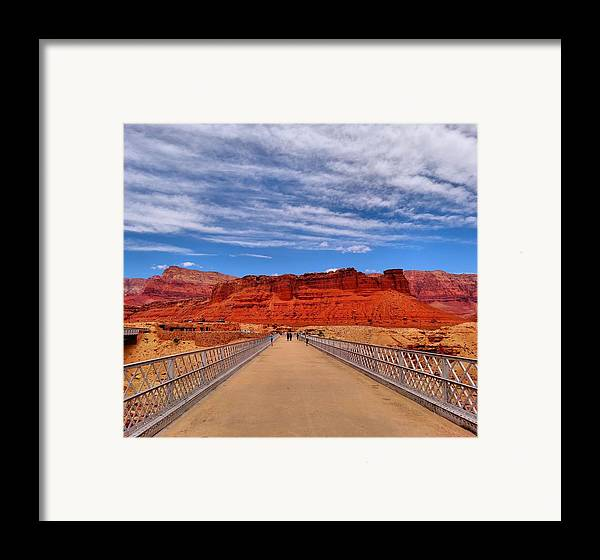 Bridge Framed Print featuring the photograph Navajo Bridge by Dan Sproul