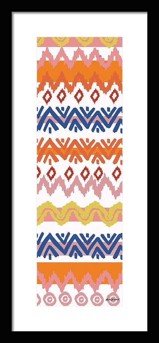 Navajo Framed Print featuring the digital art Southwest Pattern III by Nicholas Biscardi
