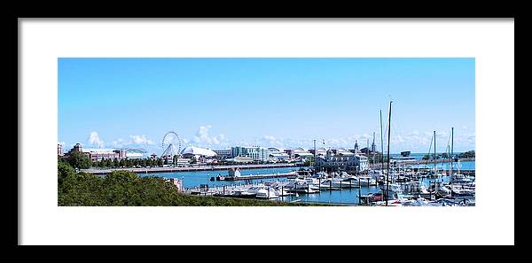 Cities Framed Print featuring the photograph Navy Pier Chicago Il Looking Northeast by Thomas Woolworth