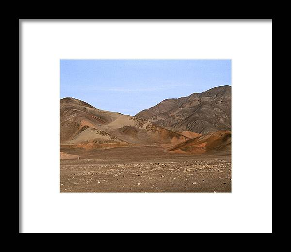 Peru Framed Print featuring the photograph Nazca Desert by Jared Bendis