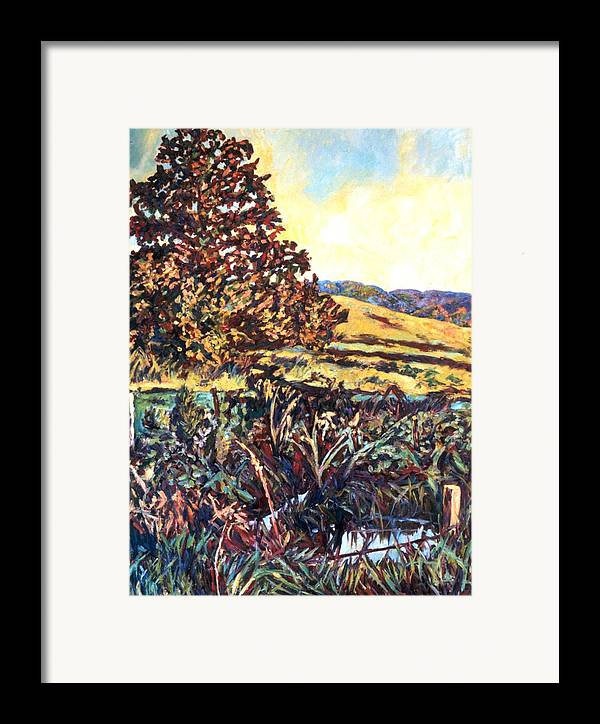 Landscape Framed Print featuring the painting Near Childress by Kendall Kessler