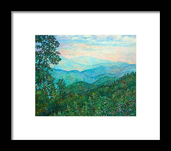 Landscape Framed Print featuring the painting Near Purgatory by Kendall Kessler