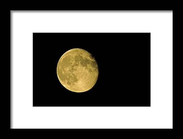 Moon Framed Print featuring the photograph Nearly Full by Greg Graham