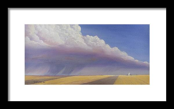 Landscape Framed Print featuring the painting Nebraska Vista by Jerry McElroy