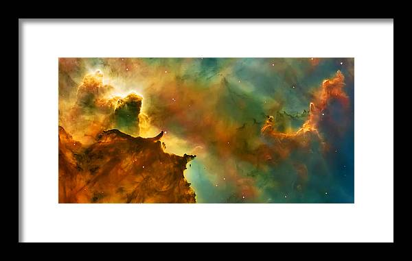Nasa Images Framed Print featuring the photograph Nebula Cloud by Jennifer Rondinelli Reilly - Fine Art Photography